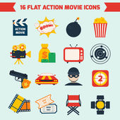 Action movie set — Stock Vector