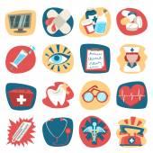 Ensemble d'icônes hôpital — Vecteur