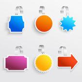 Color wobbler set — Stock Vector