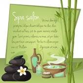 Spa salon background — Stock Vector