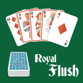 Poker hand royal flush — Stock Vector