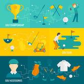 Golf banners set — Stock Vector