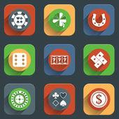 Casino flat design elements — Stock Vector