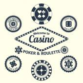 Casino emblems set — Stock Vector
