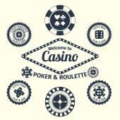 Casino emblems set — ストックベクタ