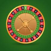 Realistic roulette isolated — Stock Vector