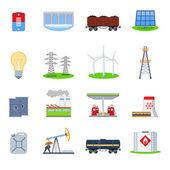 Energy icons set — Stock Vector