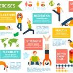 Постер, плакат: Yoga infographics set