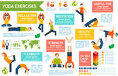 Yoga infographics set — Stockvector