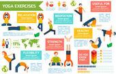 Yoga infographics set — Stock Vector