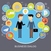 Business dialog concept — Stock Vector