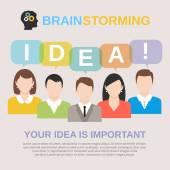 Idea brainstorming concept — Stock Vector