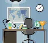 Office workplace design — Vector de stock