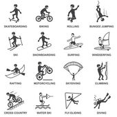 Extreme Sports Icons Set — Stock Vector