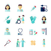 Nurse icon flat — Stockvektor