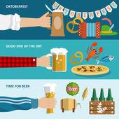 Beer banner set — Stock Vector
