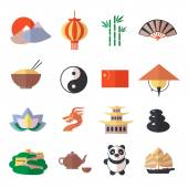 China icons set — Stock Vector