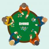Jeu de gens poker — Vecteur
