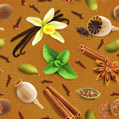 Spices seamless pattern — Stock Vector