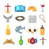 Christianity icons set — Stock Vector