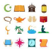 Islam icons set — Stock Vector