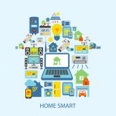 Smart home icons set — Stock Vector
