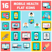 Mobile health icons set — Stockvektor