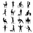 Постер, плакат: Physical activity icons black