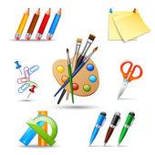 Paint tools set — Stock Vector