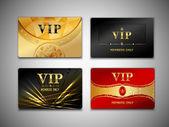 Small vip cards design set — Stock Vector