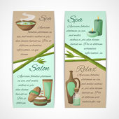 Spa banners vertical — Stock Vector