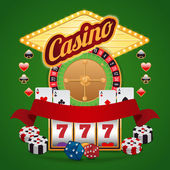 Casino elements set — Vector de stock