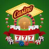 Casino elements set — Stock Vector