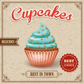 Cupcake cafe poster — Stock Vector