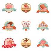 Meat label retro — Vetorial Stock