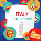 Italy background template — Stock Vector