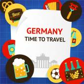 Germany background template — Stock Vector