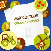 Agriculture background template — Stock Vector