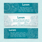 Ornamental banners horizontal — Vettoriale Stock