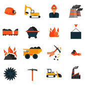 Coal industry icons — Stock Vector