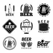 Beer black emblems — Stock Vector