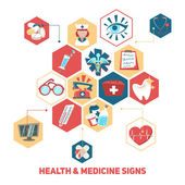 Health and medical signs concept — Stock Vector