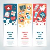 Medical vertical banners — Stock Vector