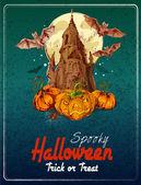 Halloween color fondo — Vector de stock