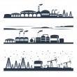 Industrial city skyline banners — Stock Vector #53478679