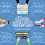 Cloud computing concept — Stock Vector #53478721
