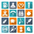 Beer icons set flat — Stock Vector #53479057
