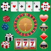 Casino design elements — Stock Vector