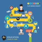 Education process concept — Stock Vector