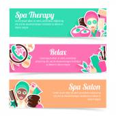 Spa banners set — Stock Vector